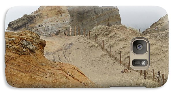 Galaxy Case featuring the photograph Oregon Sand Dunes by Athena Mckinzie