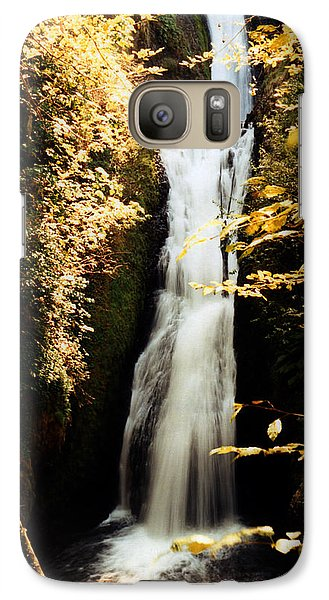 Galaxy Case featuring the photograph Oregon Waterfall Yellows by Maureen E Ritter