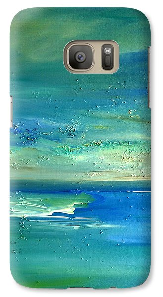 Galaxy Case featuring the painting Organic Seascape by Dolores  Deal
