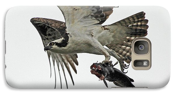 Galaxy Case featuring the photograph Osprey - Catfish by Larry Nieland