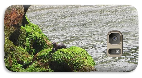 Galaxy Case featuring the photograph Otter In Bellingham Bay by Karen Molenaar Terrell