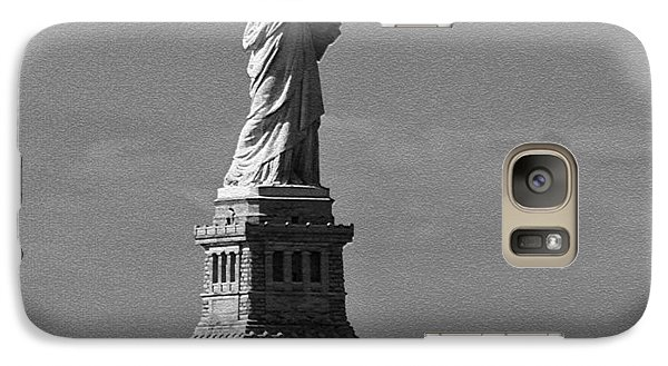Galaxy Case featuring the photograph Our Lady Of The Harbor by Nancy De Flon
