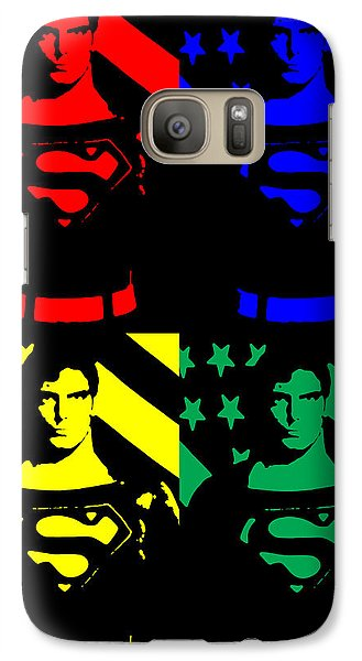 Galaxy Case featuring the digital art Our Man Of Steel by Saad Hasnain