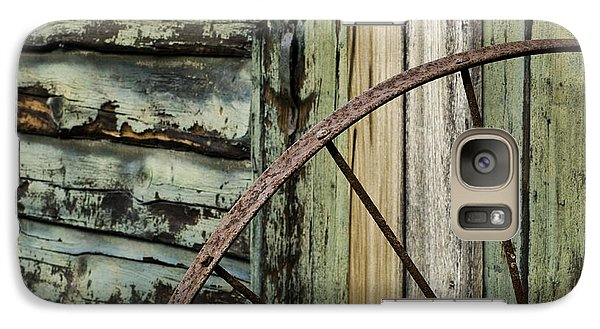 Galaxy Case featuring the photograph Outside Of An Old Barn by Nancy De Flon