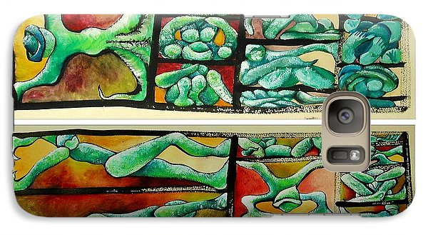 Galaxy Case featuring the painting Outsourced by Carol Rashawnna Williams