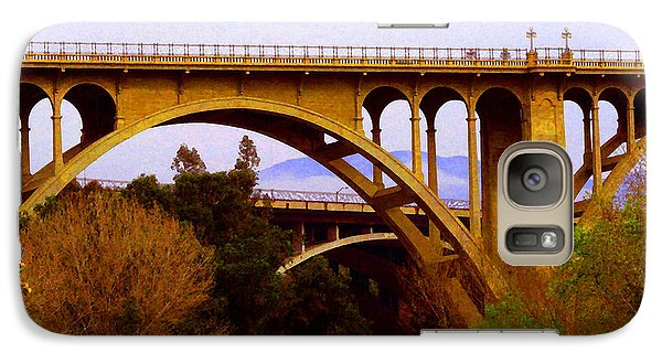 Galaxy Case featuring the photograph Over The Arroyo by Timothy Bulone