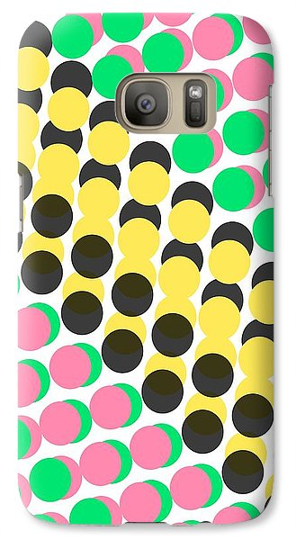 Overlayed Dots Galaxy Case by Louisa Knight