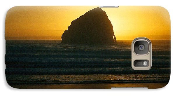 Galaxy Case featuring the photograph Pacific City Sunset by Chriss Pagani