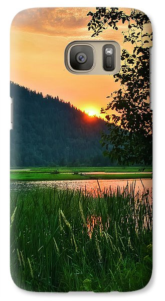 Galaxy Case featuring the photograph Pack River Delta Sunset 2 by Albert Seger