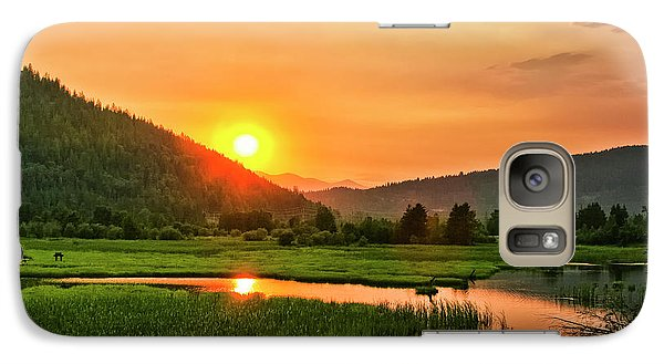Galaxy Case featuring the photograph Pack River Delta Sunset by Albert Seger