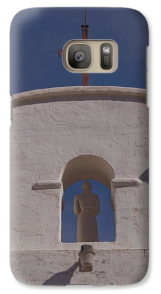 Galaxy Case featuring the photograph Padre In Tower by Tom Singleton
