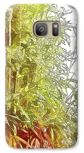 Galaxy Case featuring the digital art Painted Bamboo by Terry Cork