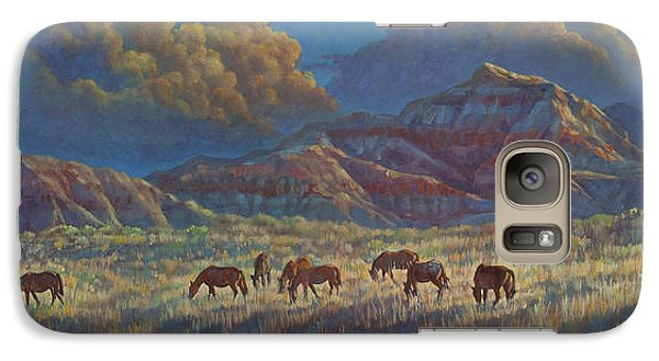 Galaxy Case featuring the painting Painted Desert Painted Horses by Rob Corsetti