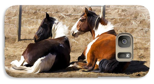 Galaxy Case featuring the photograph Painted Horses I by Angelique Olin