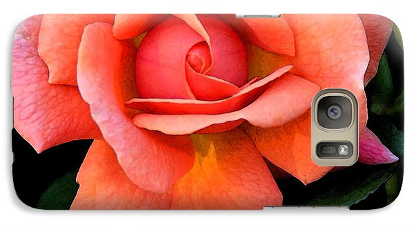 Galaxy Case featuring the photograph Painted Rose by Cindy Manero