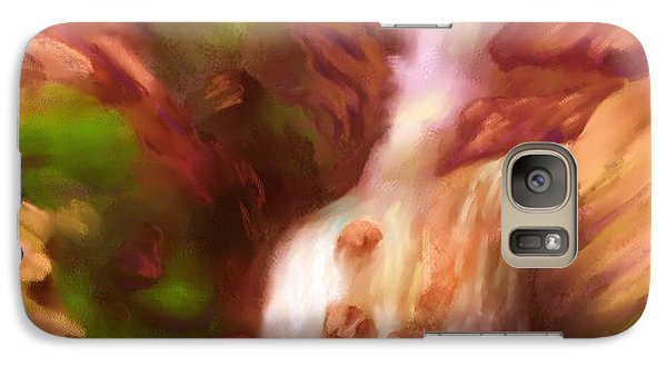 Galaxy Case featuring the painting Painting Of Waterfall Wonderland by Judy Filarecki