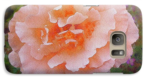 Galaxy Case featuring the painting Pale Orange Begonia by Richard James Digance