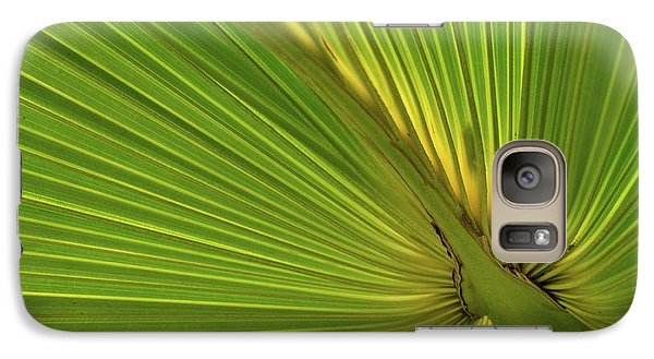 Galaxy Case featuring the photograph Palm Leaf II by JD Grimes