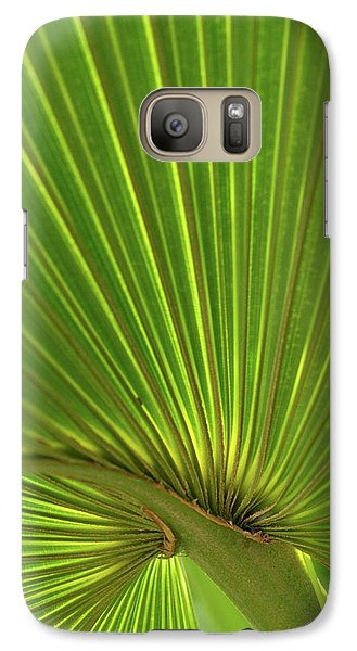 Galaxy Case featuring the photograph Palm Leaf by JD Grimes