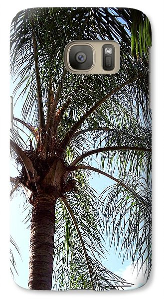 Galaxy Case featuring the photograph Palm Tree  by Rebecca Overton