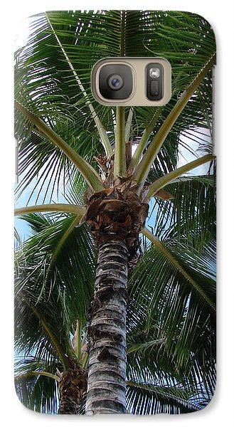 Galaxy Case featuring the photograph Palm Tree Umbrella by Athena Mckinzie