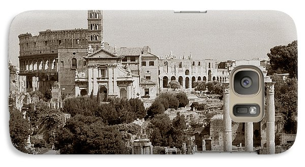 Galaxy Case featuring the photograph Panoramic View Via Sacra Rome by Tom Wurl
