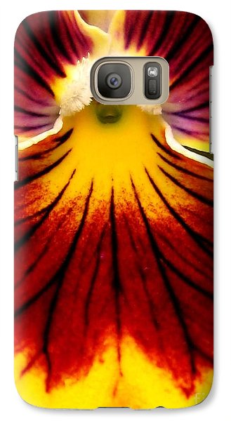 Galaxy Case featuring the photograph Pansy Named Imperial Gold Princess by J McCombie