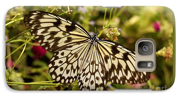 Galaxy Case featuring the photograph Paper Kite Butterfly by Eva Kaufman