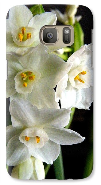 Galaxy Case featuring the photograph Paperwhites by Robin Dickinson