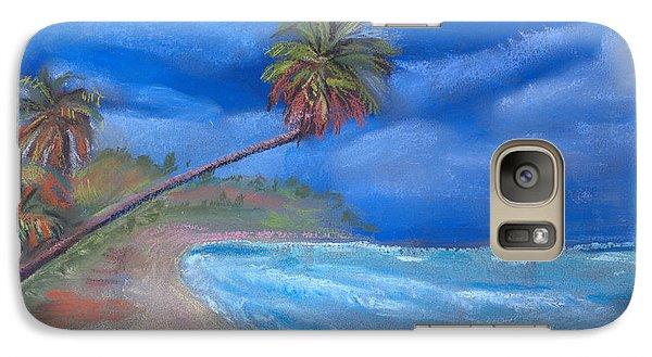 Galaxy Case featuring the pastel Paradise In Puerto Rico by Arline Wagner