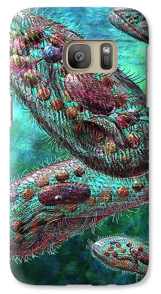 Galaxy Case featuring the digital art Paramecium by Russell Kightley