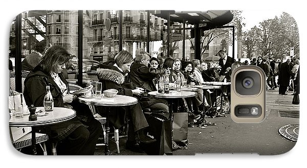 Galaxy Case featuring the photograph Paris Cafe by Eric Tressler