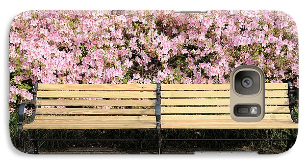 Galaxy Case featuring the photograph Park Bench And Azaleas by Bradford Martin