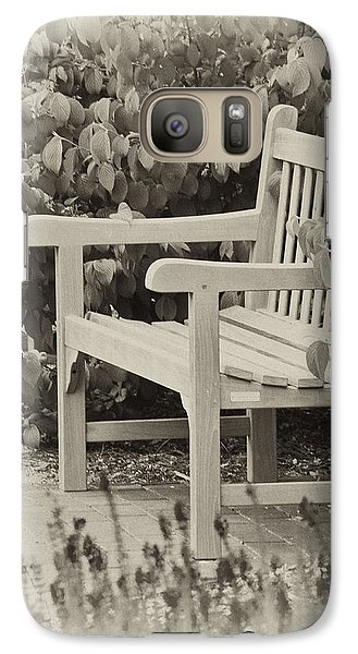 Park Bench Galaxy S7 Case by Bill Barber