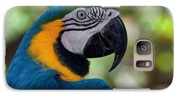 Galaxy Case featuring the photograph Parrot Head by Art Whitton