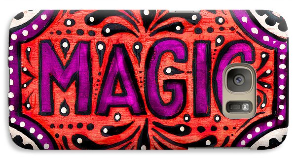 Galaxy Case featuring the painting Party Magic  by Nada Meeks