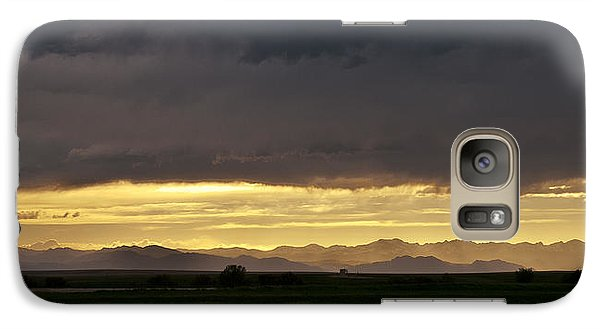 Galaxy Case featuring the photograph Passing Storm Clouds by Monte Stevens