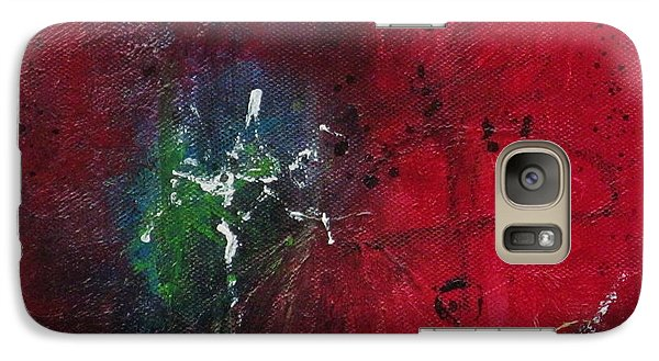 Galaxy Case featuring the painting Passion 2 by Nicole Nadeau