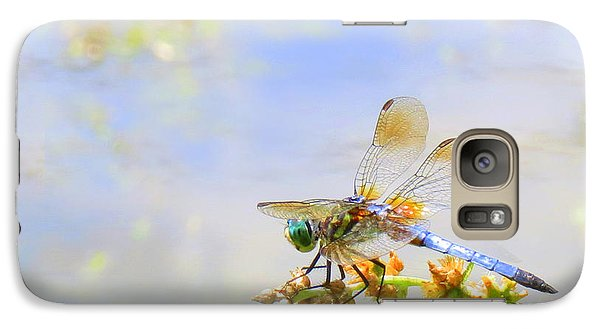 Galaxy Case featuring the photograph Pastel Dragonfly by Deborah Smith