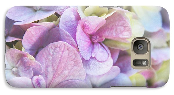 Galaxy Case featuring the photograph Pastel Hydrangeas - Square by Kerri Ligatich