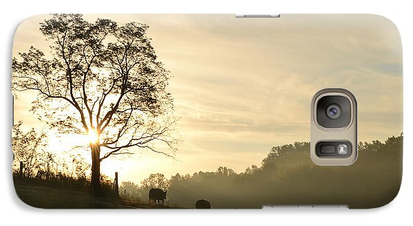 Galaxy Case featuring the photograph Pasture Sunrise by JD Grimes