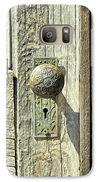 Galaxy Case featuring the photograph Patina Knob by Fran Riley