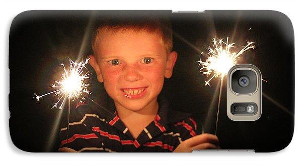 Galaxy Case featuring the photograph Patriotic Boy by Kelly Hazel