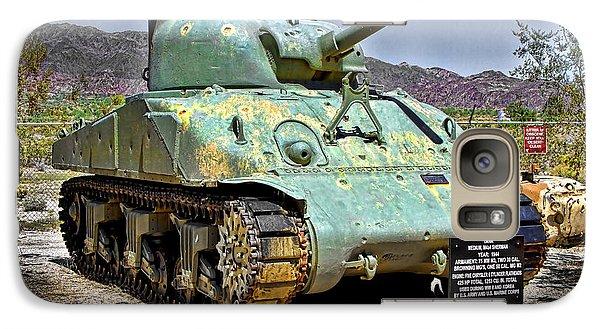 Galaxy Case featuring the photograph Patton M4 Sherman by Jason Abando
