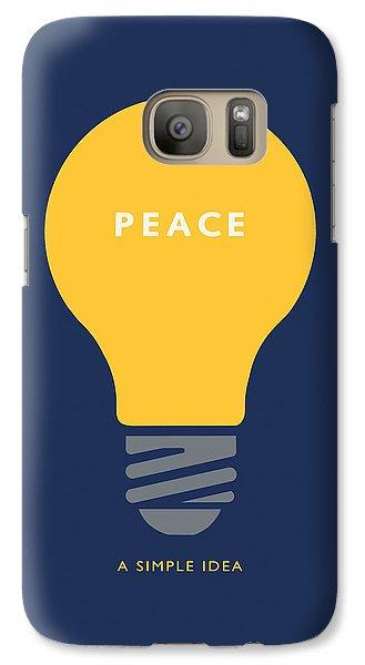 Galaxy Case featuring the digital art Peace A Simple Idea by David Klaboe