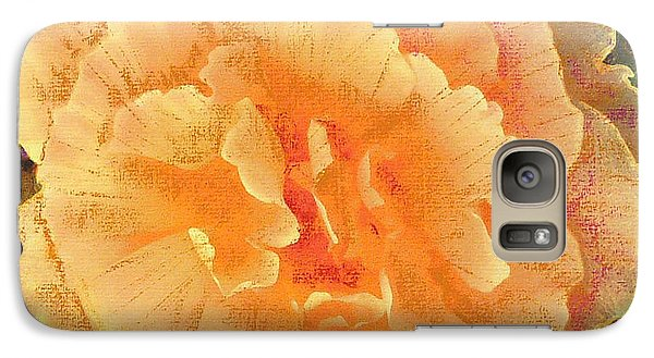 Galaxy Case featuring the painting Peach Begonia by Richard James Digance