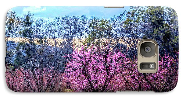 Galaxy Case featuring the photograph Peachy Blossum Scene2 by William Havle