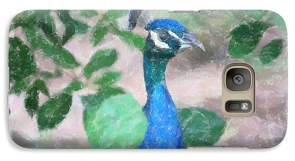 Galaxy Case featuring the photograph Peacock by Donna  Smith