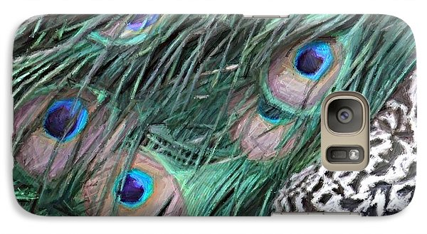 Galaxy Case featuring the photograph Peacock Feathers by Donna  Smith