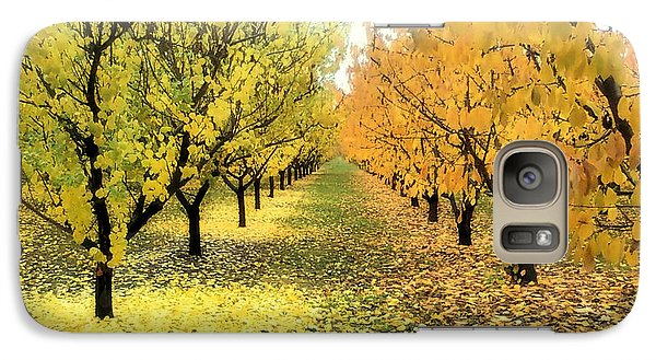 Galaxy Case featuring the photograph Pear Orchard In Fall by Katie Wing Vigil